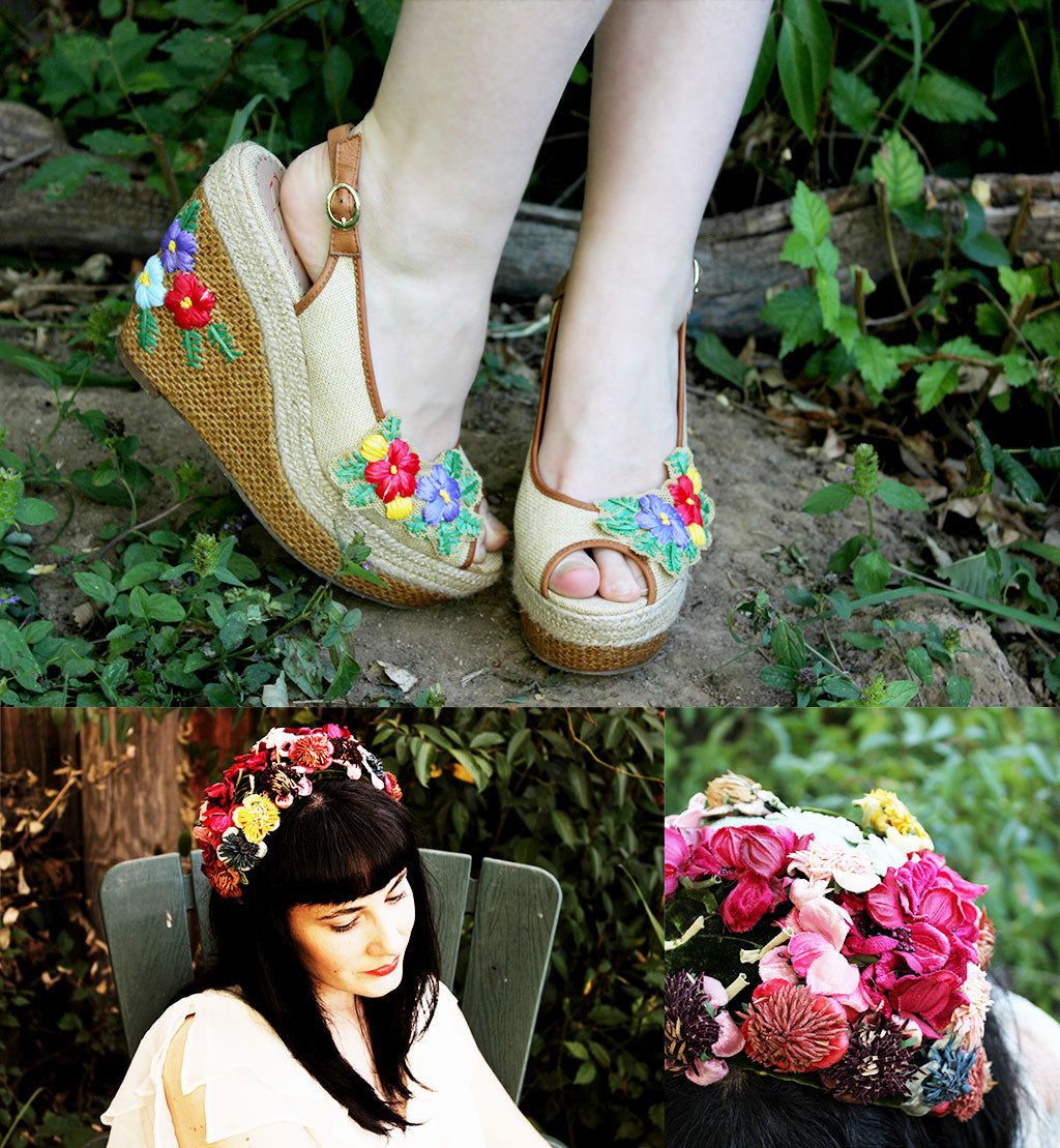 poetic licence shoes fashion blogger daisy doll flower child