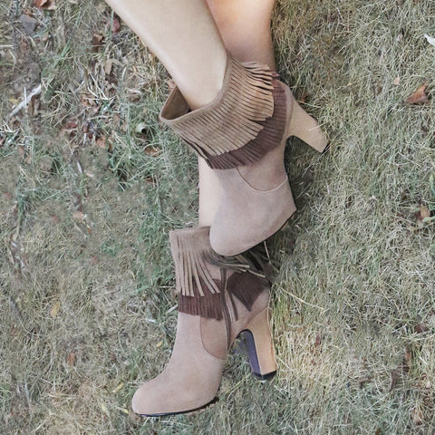 BOHO FANTASIES in NEW TAN Ankle Boots