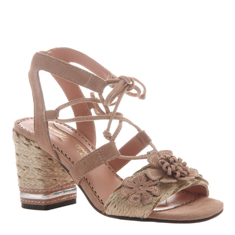 ENTWINED in PALE ROSE Heeled Sandals