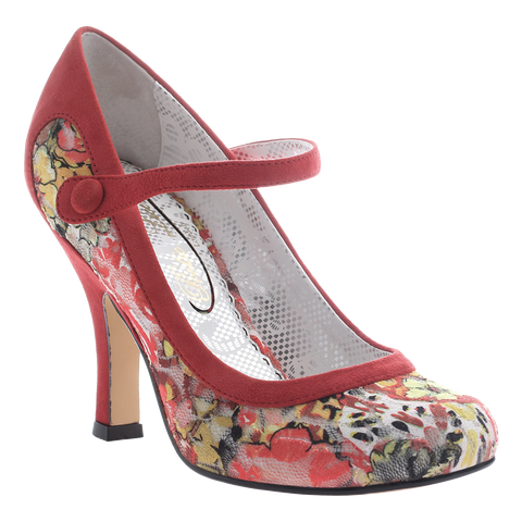 Poetic Licence, Feminine Encounters, Red, Mary Jane pump with top strap