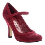 Poetic Licence, Feminine Encounters, Grape, Mary Jane pump with top strap