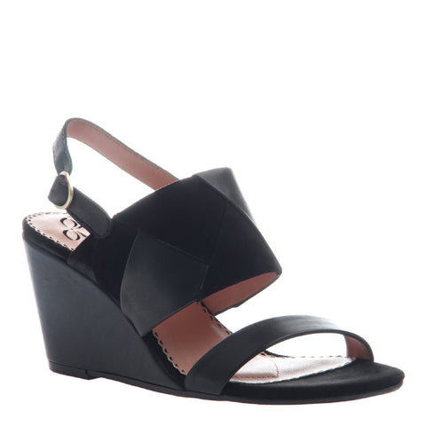 FRAME in BLACK Wedge Sandals
