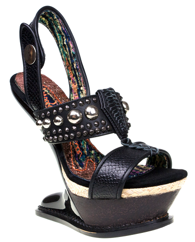 Irregular Choice, Enchantment, Black, Heelless heel