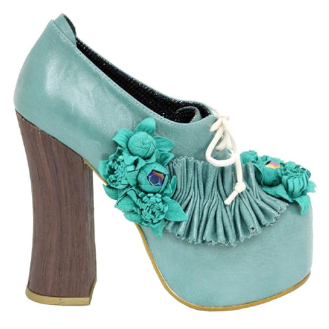Irregular Choice, Pertrisha, Green, Platform shoe with laces