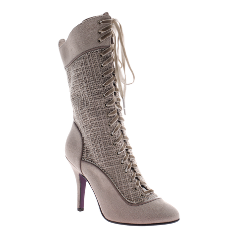 Poetic Licence, Go Bananas, Stone, Lace up boot with high heel
