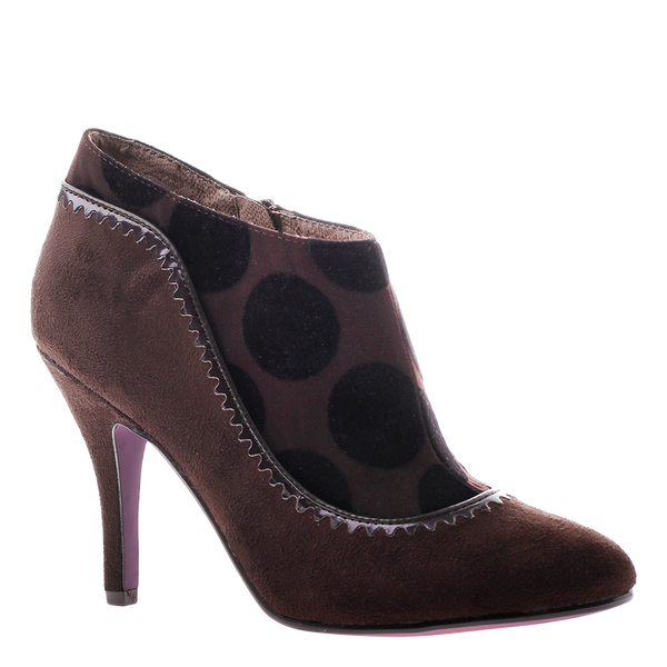 Poetic Licence, Glad Tidings, Dark Brown, Stiletto Bootie