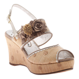 Poetic Licence, Passing Time, Boxwood, Wedge with ankle strap