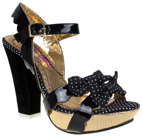 Irregular Choice, Ariels Treasure, Black Patent, Platform high heel
