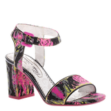 BAY BREEZE in FUSHIA BLACK Heeled Sandals