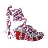 MISH AND MASH in RED MULTI Wedge Sandals