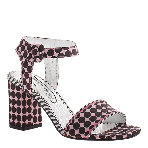 Poetic Licence, Bay Breeze, Pink, Square heel sandal with ankle strap and buckle