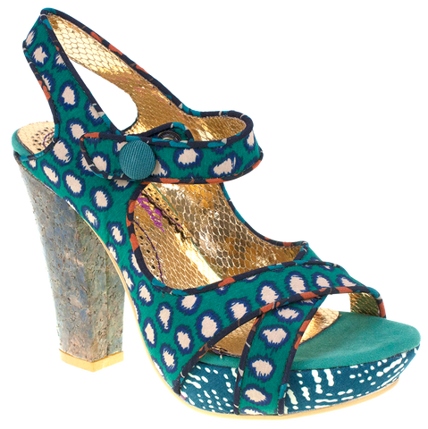 Irregular Choice, Mermaid Find, Green, Platform heel with ankle fasten