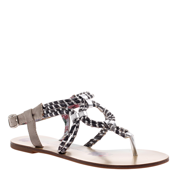 Poetic Licence, Hi and Mighty, Silver, Thong flat sandal