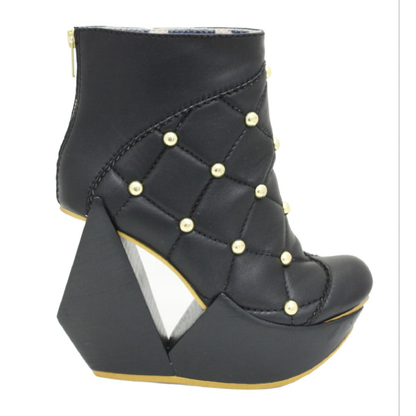 Irregular Choice, Velocity, Black, Platform bootie