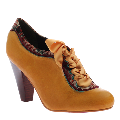 Poetic Licence, Backlash, New Yellow, Lace up vintage heel