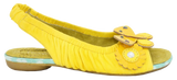 LOVE BIRDS in YELLOW Flat Sandals