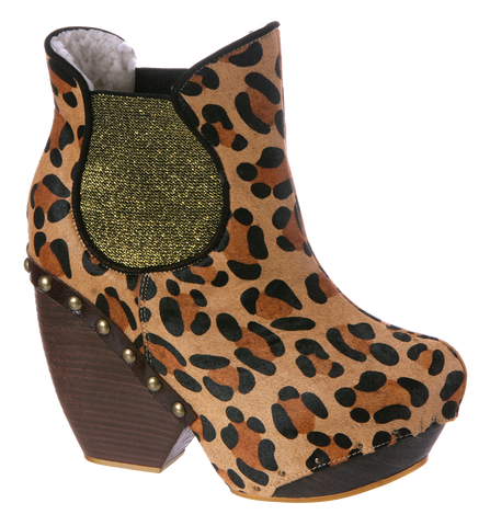 Irregular Choice, Collagen Kiss, Leopard, Platform bootie
