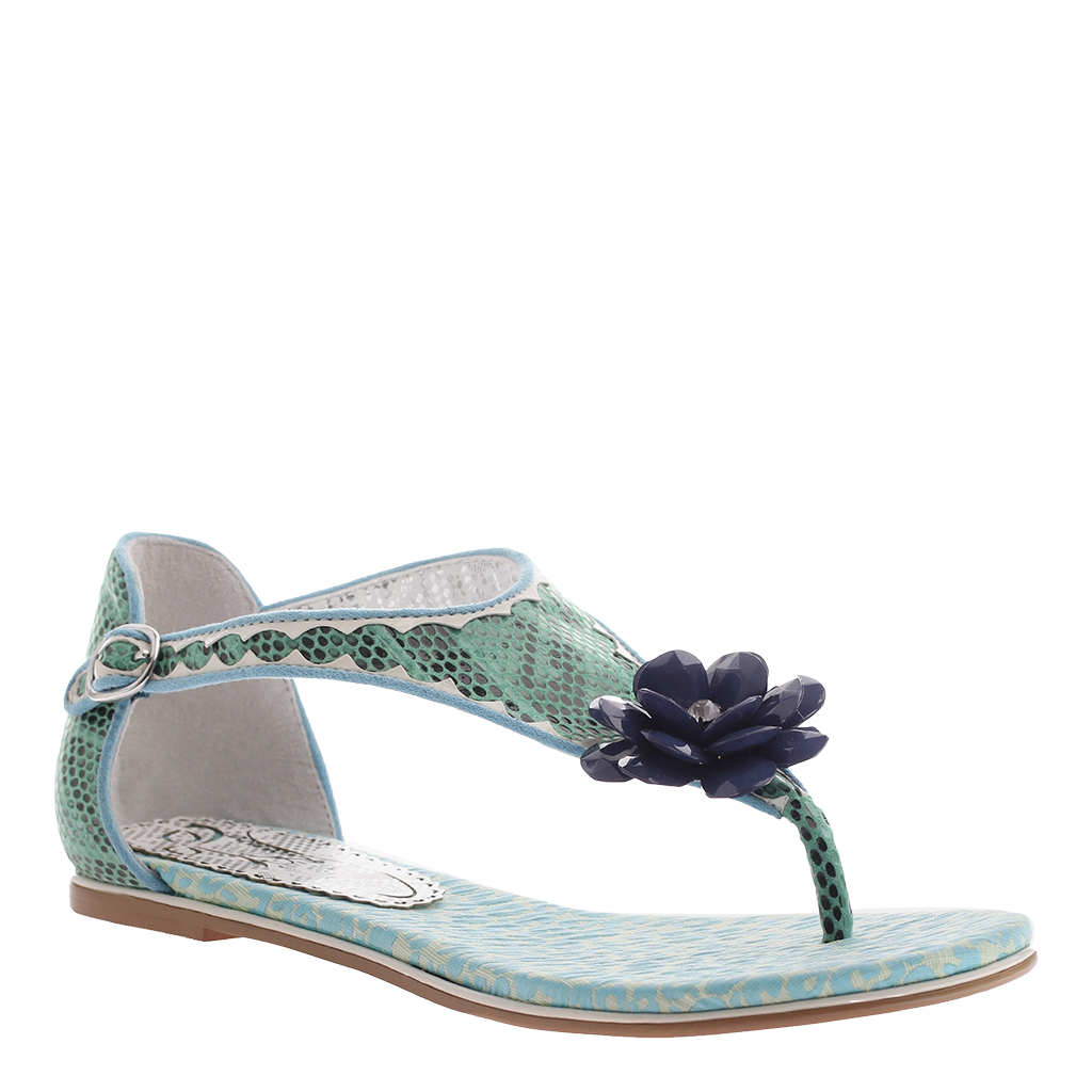 Poetic Licence, After-hours, Teal Blue, Thong sandal with closed ankle  fasten ...