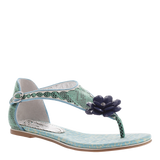 Poetic Licence, After-hours, Teal Blue, Thong sandal with closed ankle fasten