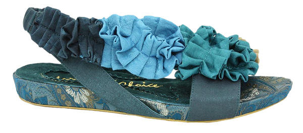 Irregular Choice, Bingo Best, Navy, Sling back flat