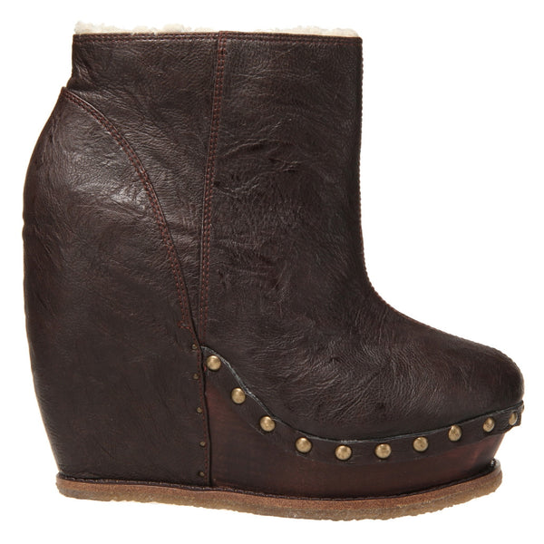 Irregular Choice, Sugar N Candy, Chocolate, letter studded wedge bootie