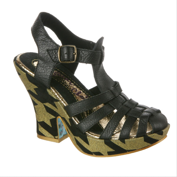 Irregular Choice, Mumba, Black, Platform sandal