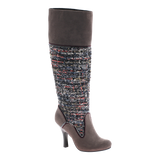 GOLDEN COMPASS in DARK GREY Knee High Boots