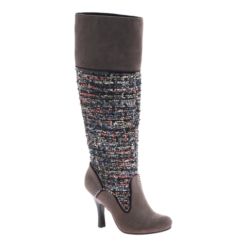 Poetic Licence, Golden Compass, Dark Grey, Tall high heel boot