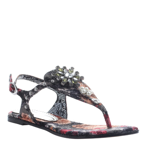 Poetic Licence, Mercado Shopping, Currant, Thong jeweled sandal