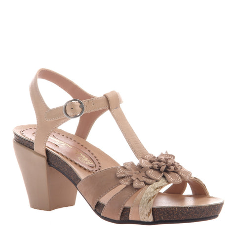 POPLIN in BUFF Wedge Sandals