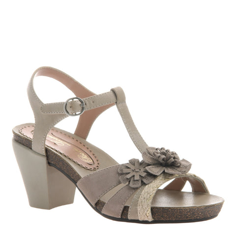 POPLIN in STONE Wedge Sandals