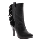 PURE AND EASY in BLACK Mid-Shaft Boots