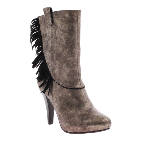 Poetic Licence, Pure and Easy, Dirty Grey, High heel boot with fringe