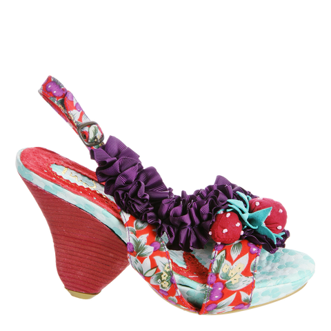 RASBERRY RIPPLES in GREY PURPLE Heeled Sandals