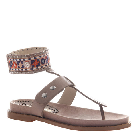 SAND in MID TAUPE Flat Sandals