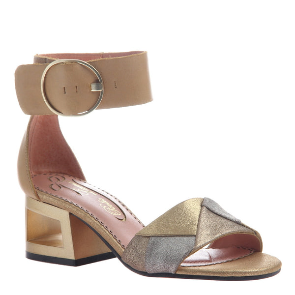 SPLATTER in NEW TAN Heeled Sandals