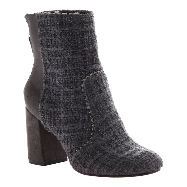 Poetic Licence, Top That, Dark Grey, Square heel go go boot