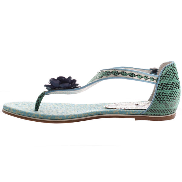 AFTERHOURS in TEAL BLUE Flat Sandals