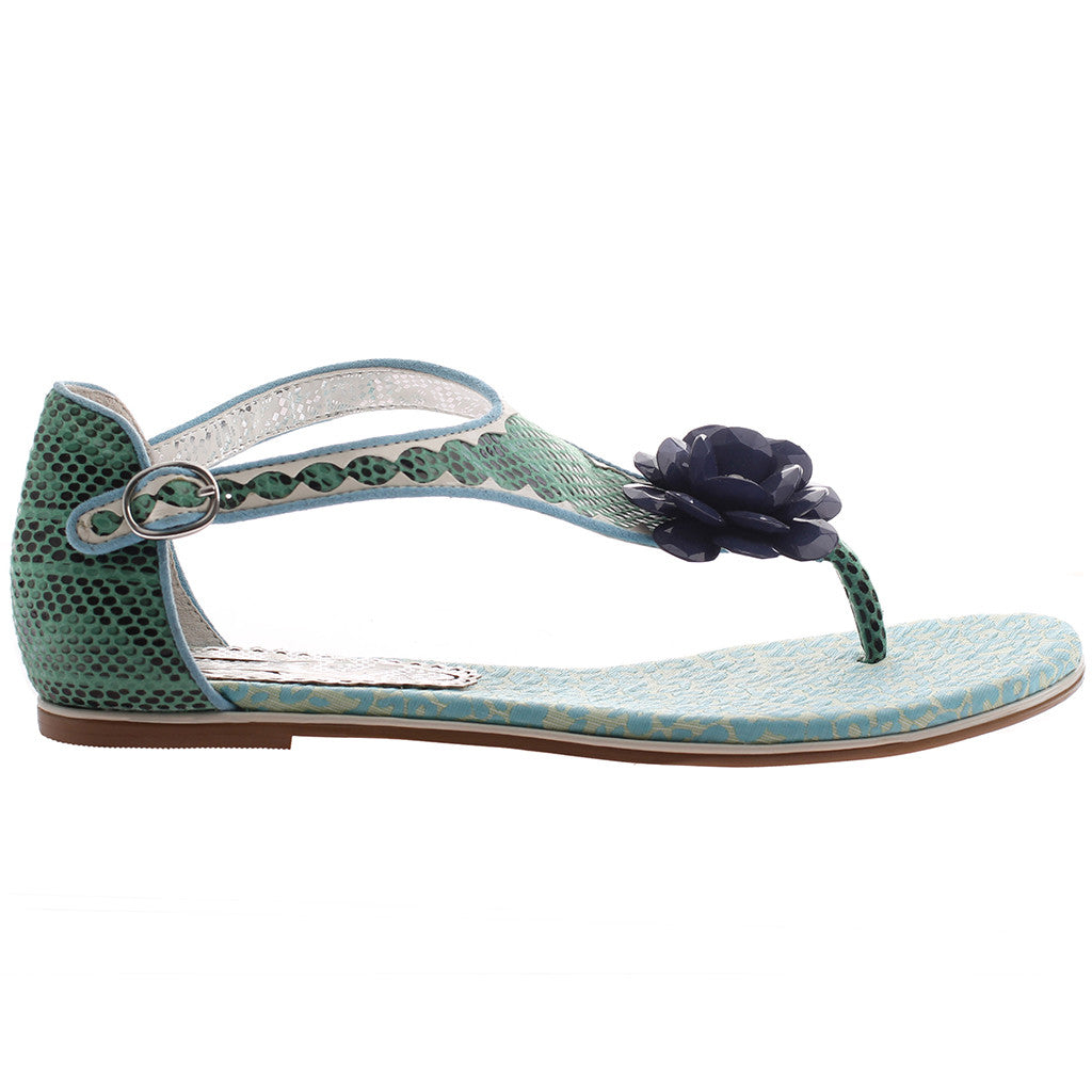 48f7ad81f0d4 ... AFTERHOURS in TEAL BLUE Flat Sandals ...