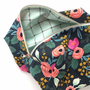 Navy Floral  Lifestyle Bag
