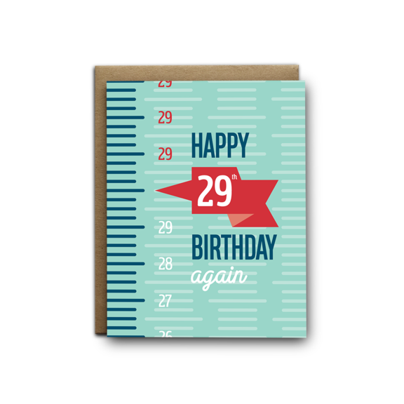29 Again Birthday Card