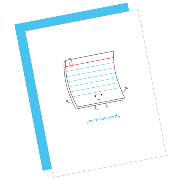 You're Noteworthy Card