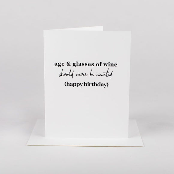 Age + Glasses of Wine Card