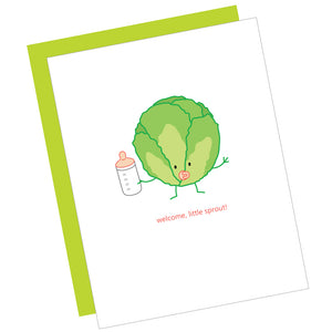 Welcome Little Sprout Card