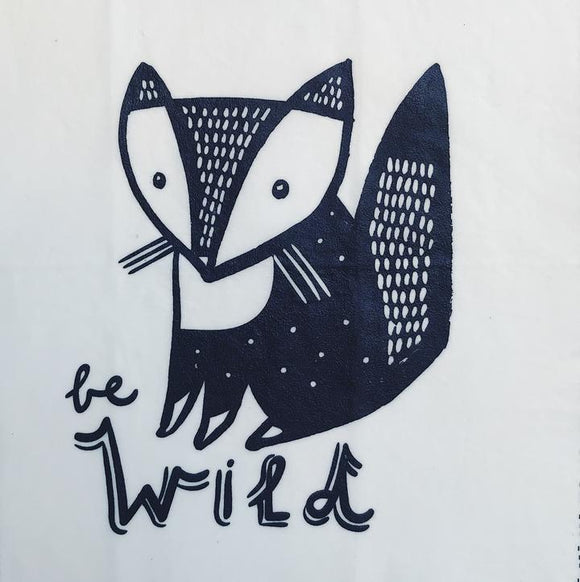 'Be Wild' Beeswax Wrap - Single