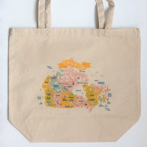Map Of Canada Canvas Tote Bag