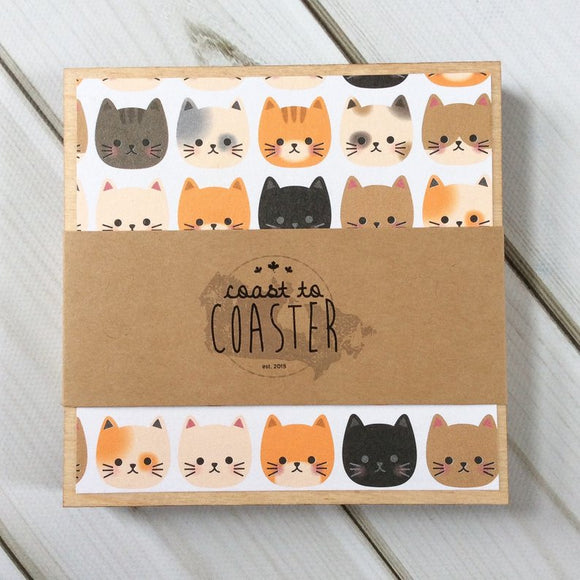 Cats + Stripes Coasters
