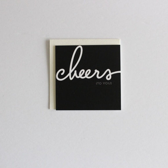 Cheers To You Mini Note Card