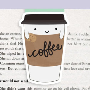 Coffee Cup Magnetic Bookmark