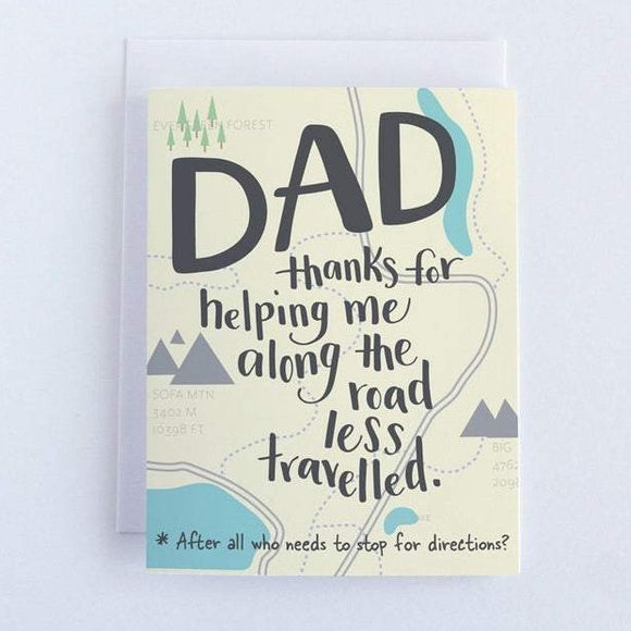 Dad, Thanks For Helping Me Card